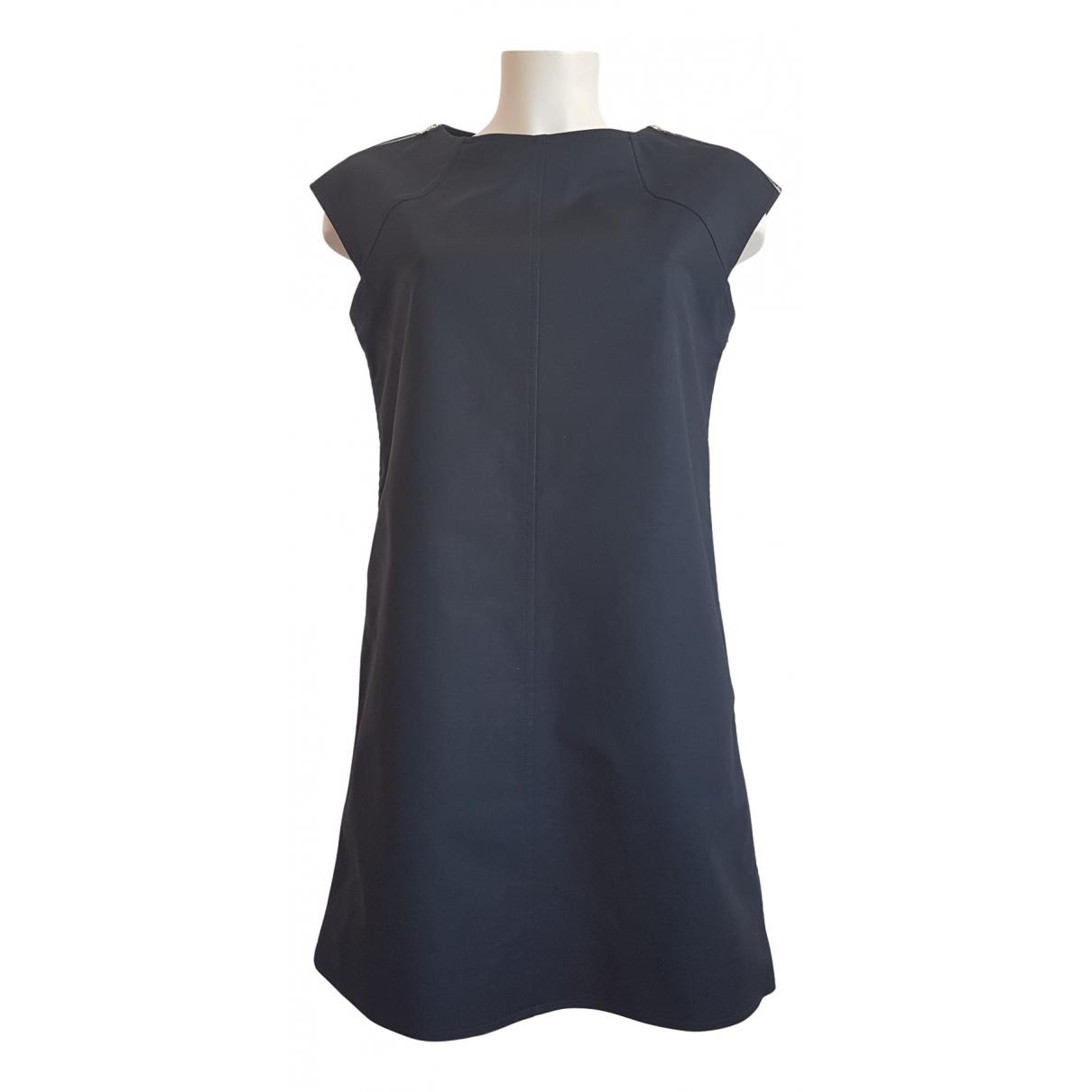 Courreges \N Kleid in  Schwarz Baumwolle - Elasthan