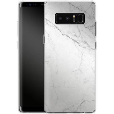 Samsung Galaxy Note 8 Silikon Handyhuelle - White Marble von caseable Designs