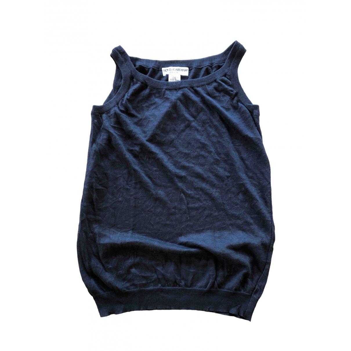 Dolce & Gabbana - Top   pour femme en lin - noir