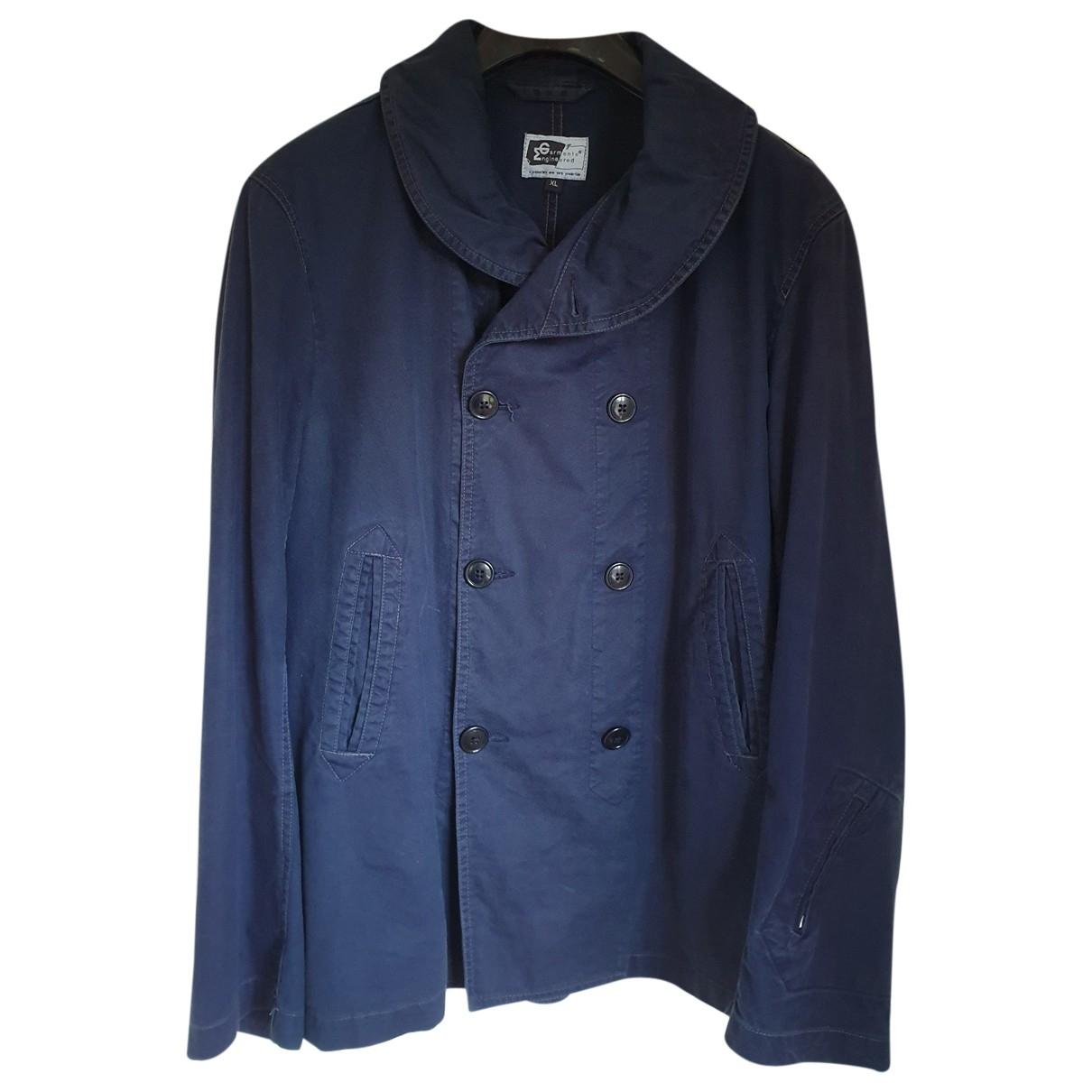 Engineered Garments \N Jacke in  Marine Baumwolle