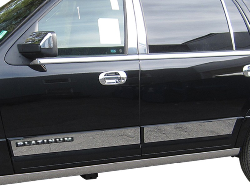Quality Automotive Accessories Stainless Steel Rocker Panel Trim, Upper Kit Ford Expedition 15-17