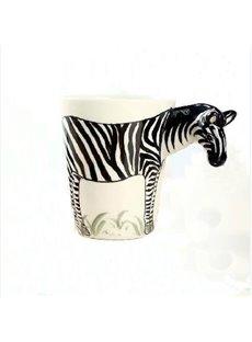 New Arrival Hand-painted 3D Ceramic Zebra Creative Mug