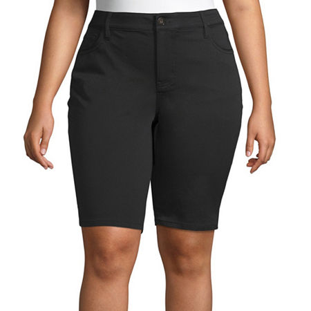 Liz Claiborne Flexi Fit Bermuda-Plus, 28w , Black