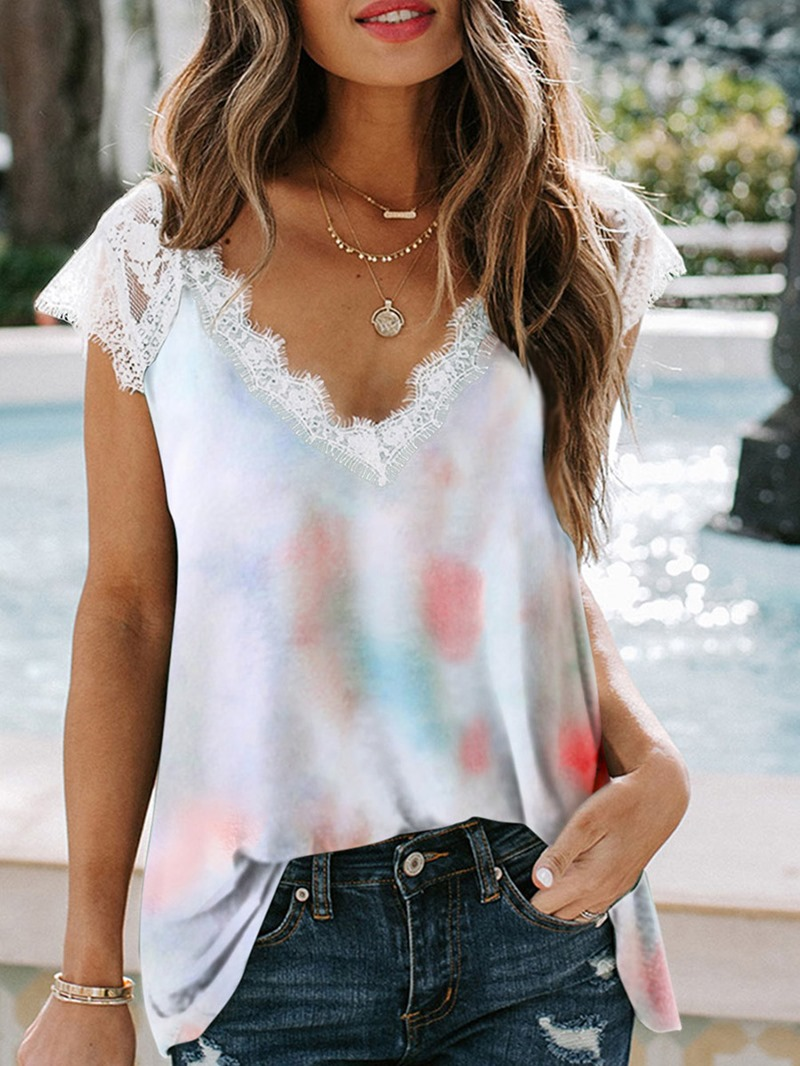 Ericdress Mid-Length Round Neck Short Sleeve Loose Casual T-Shirt