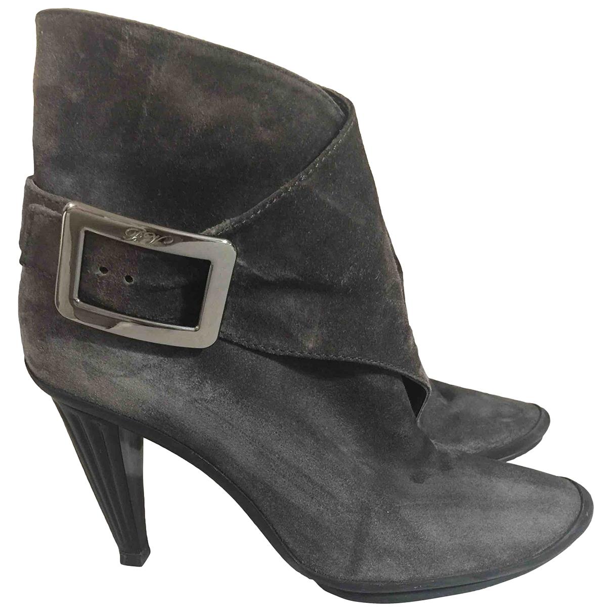Roger Vivier - Boots   pour femme en suede - gris