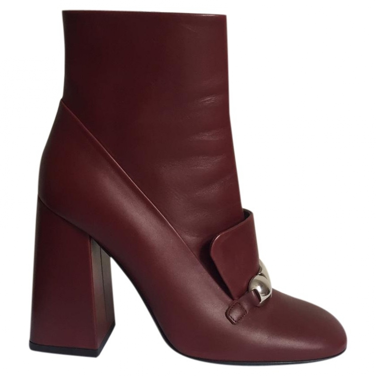 Burberry \N Stiefeletten in  Bordeauxrot Leder