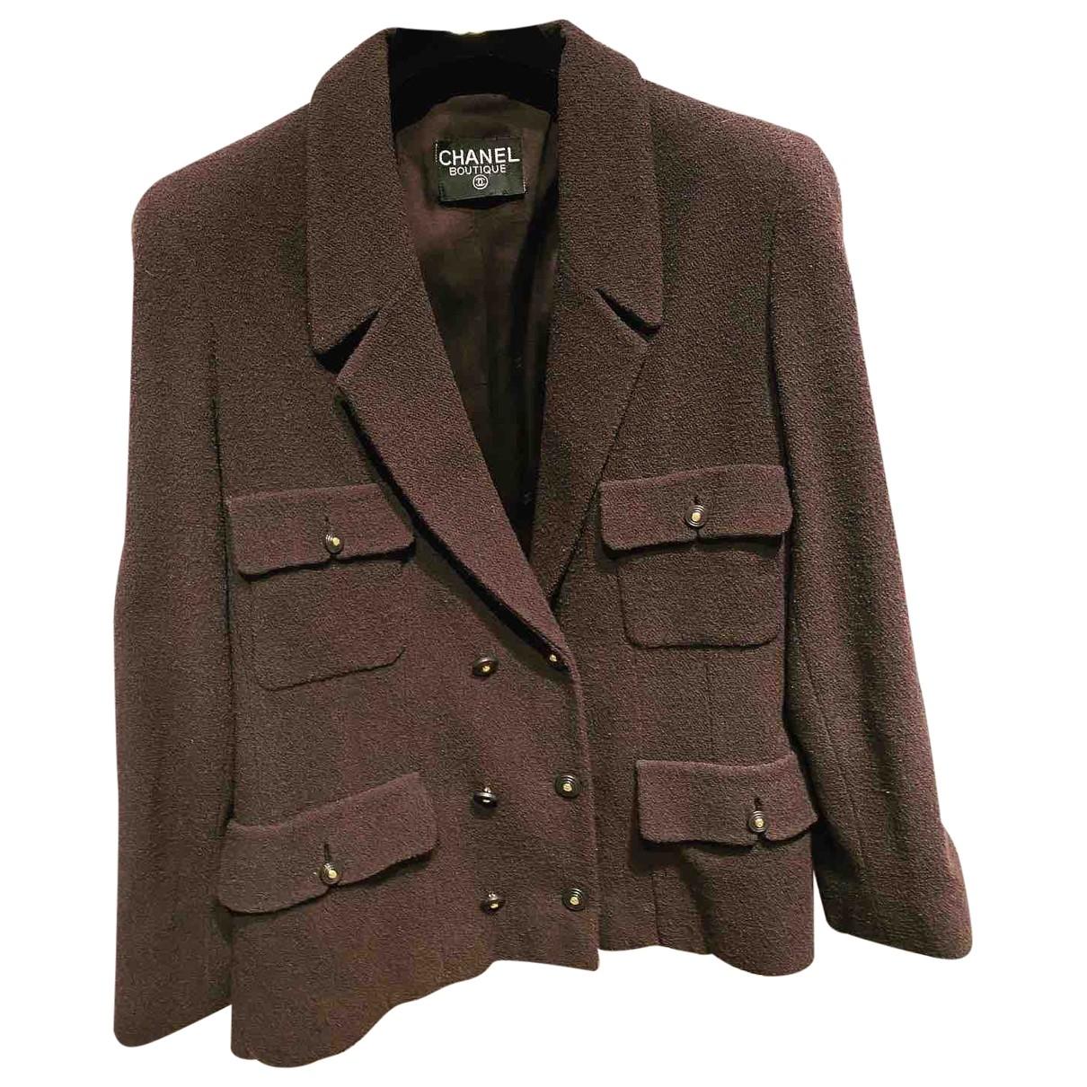 Chanel \N Brown Wool skirt for Women 42 FR