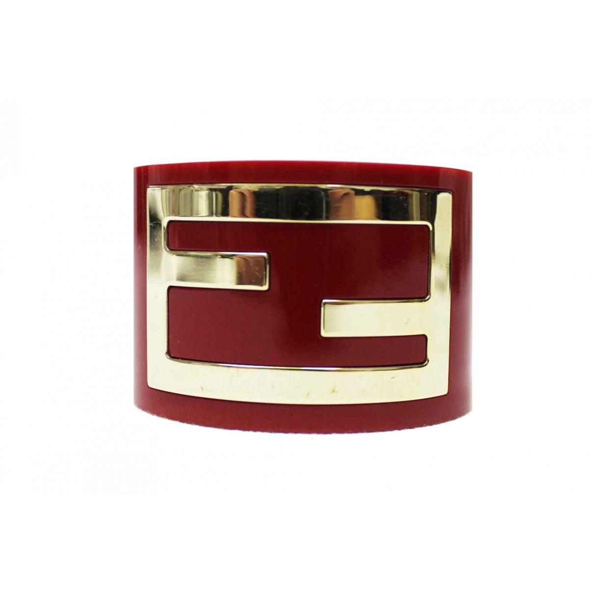 Fendi \N Armband in  Rot Kunststoff