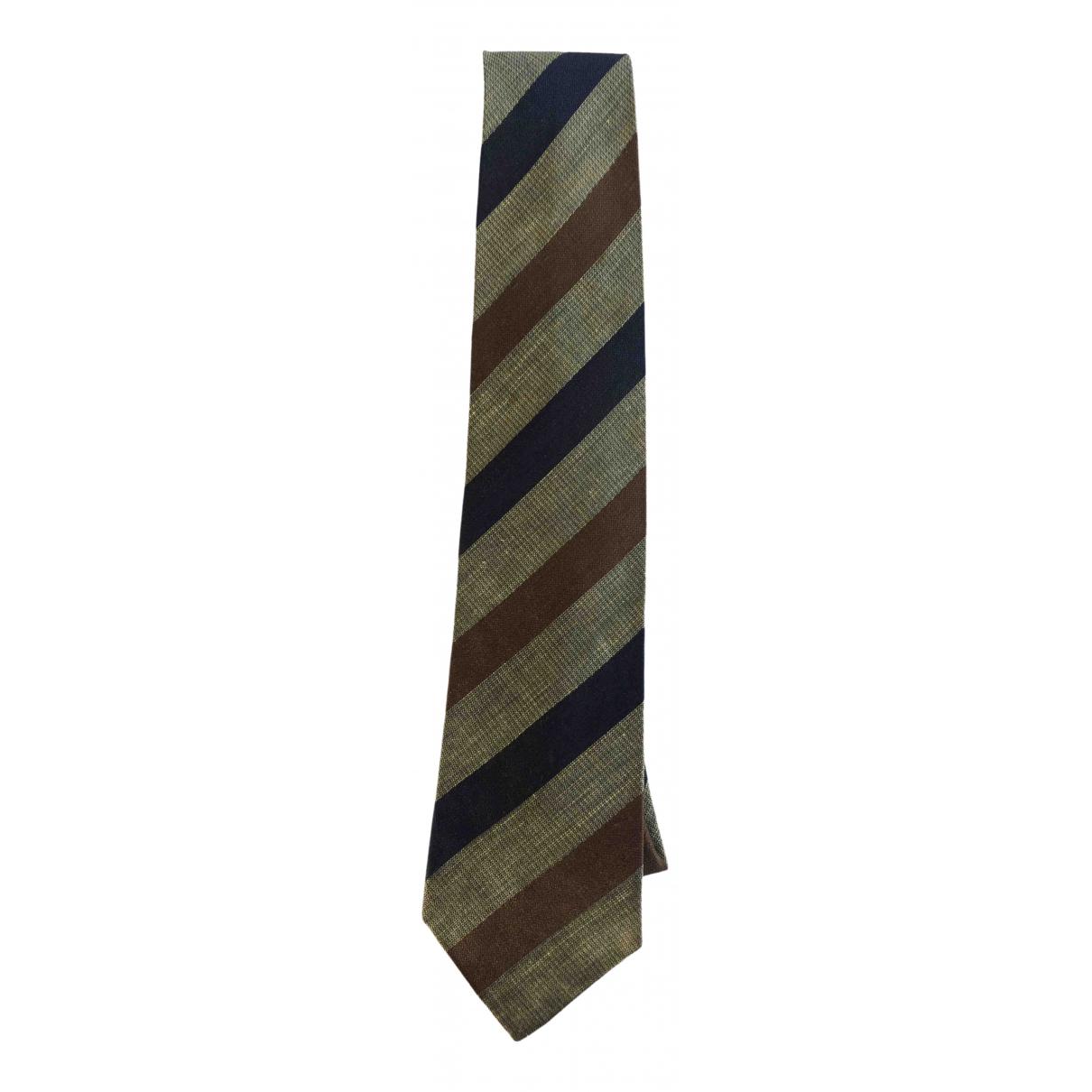 Emanuel Ungaro - Cravates   pour homme en coton - camel