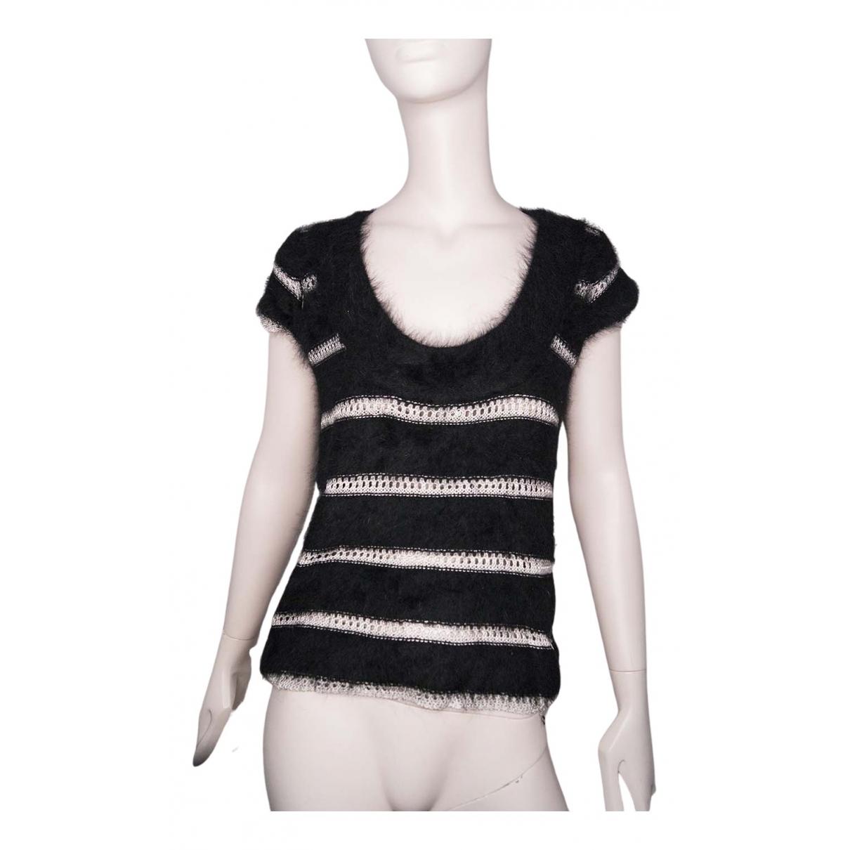 Emporio Armani - Top   pour femme en laine - noir