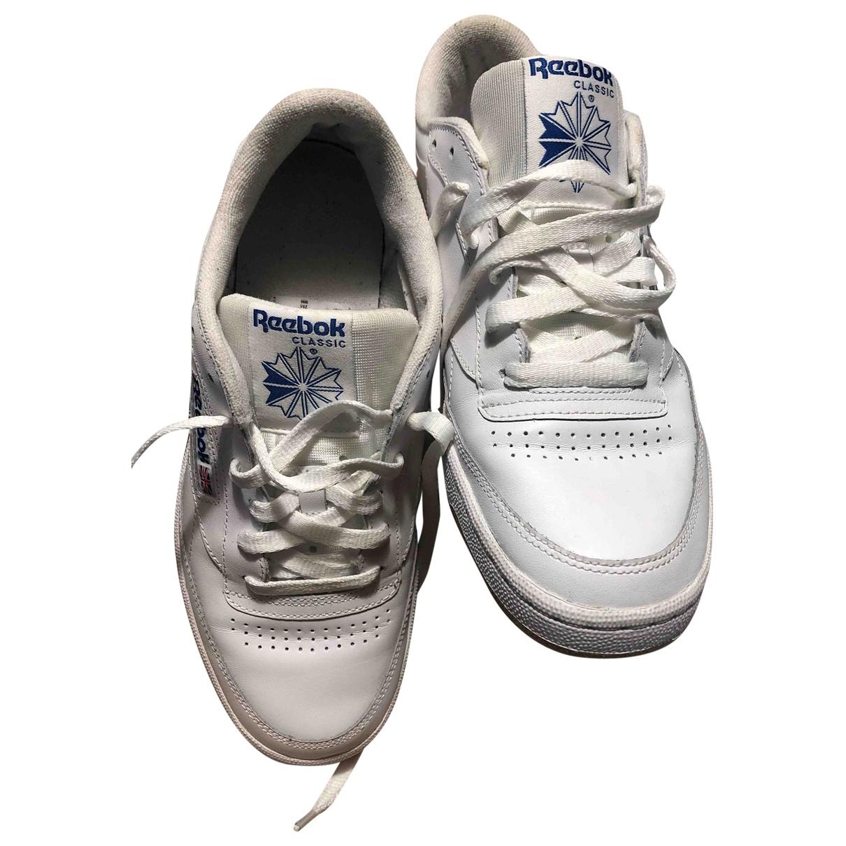 Reebok club C 85 Sneakers in  Weiss Leder