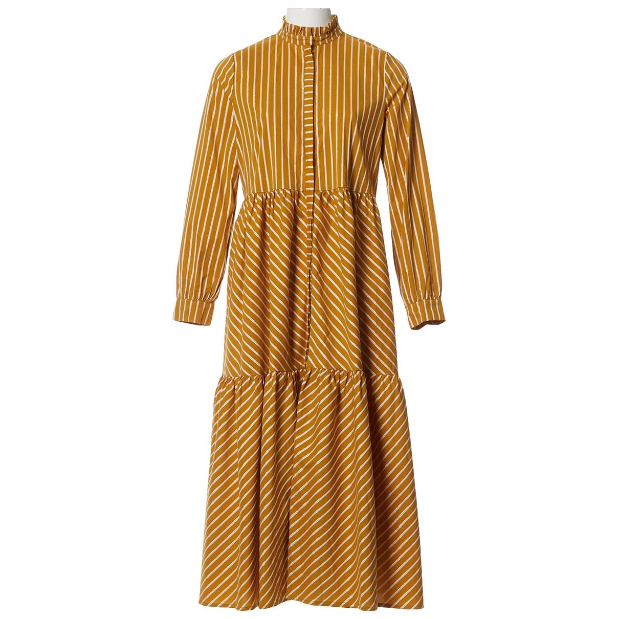 Gestuz \N Kleid in  Gelb Baumwolle