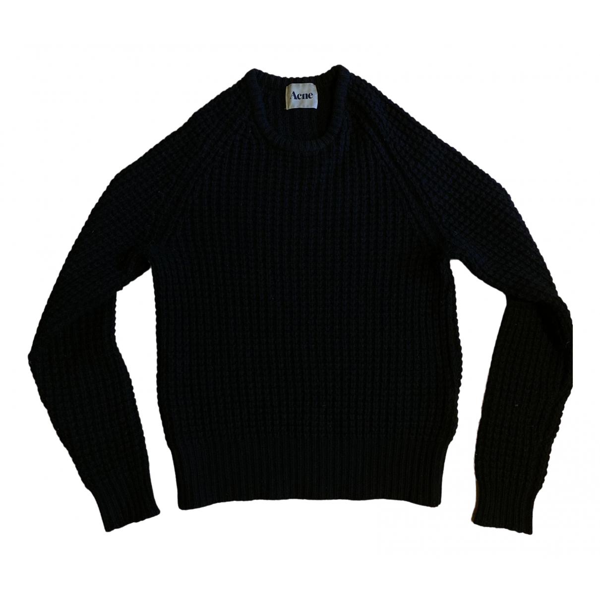Acne Studios \N Pullover.Westen.Sweatshirts  in  Schwarz Wolle