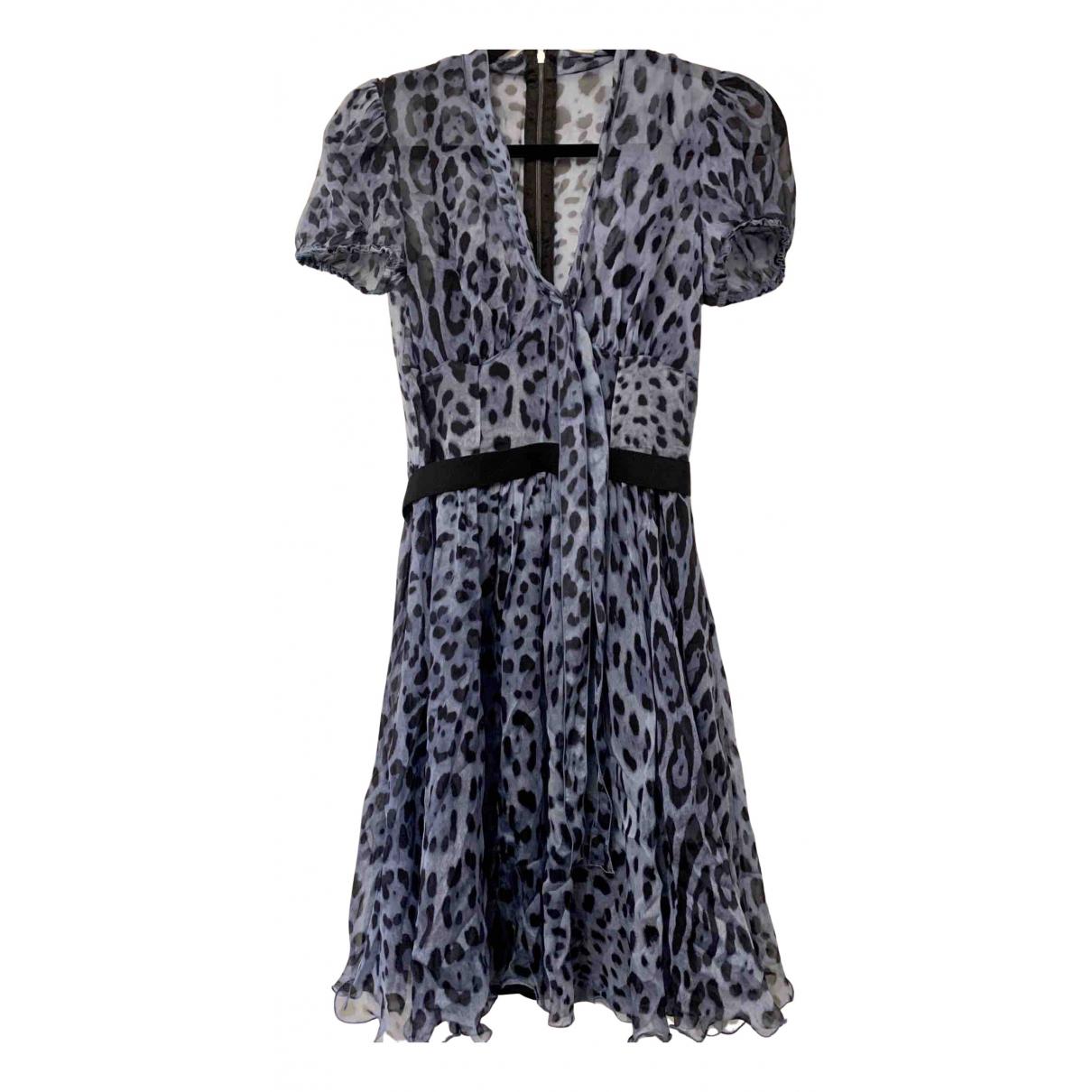 Dolce & Gabbana N Blue Silk dress for Women 38 IT