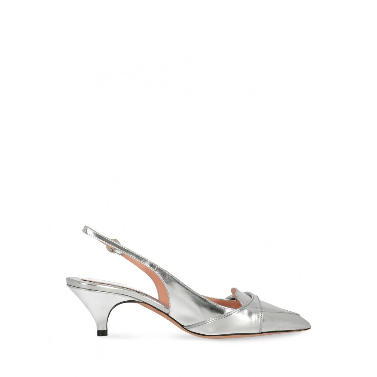 Rochas \N Silver Patent leather Heels for Women 36 IT