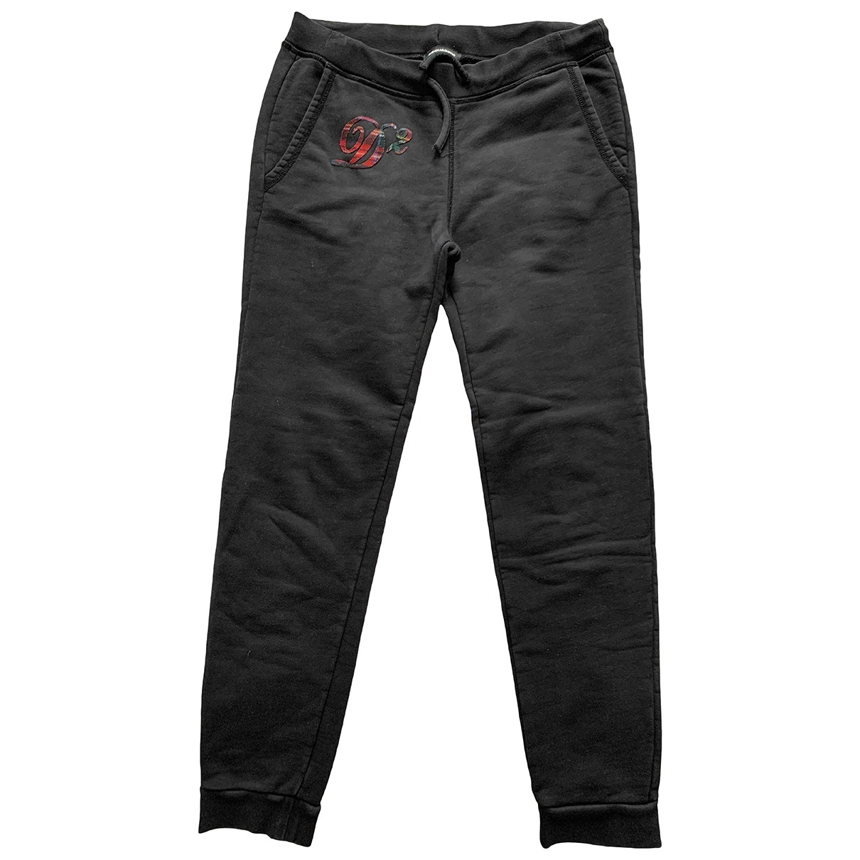 Dsquared2 \N Black Cotton Trousers for Kids 16 years - M UK