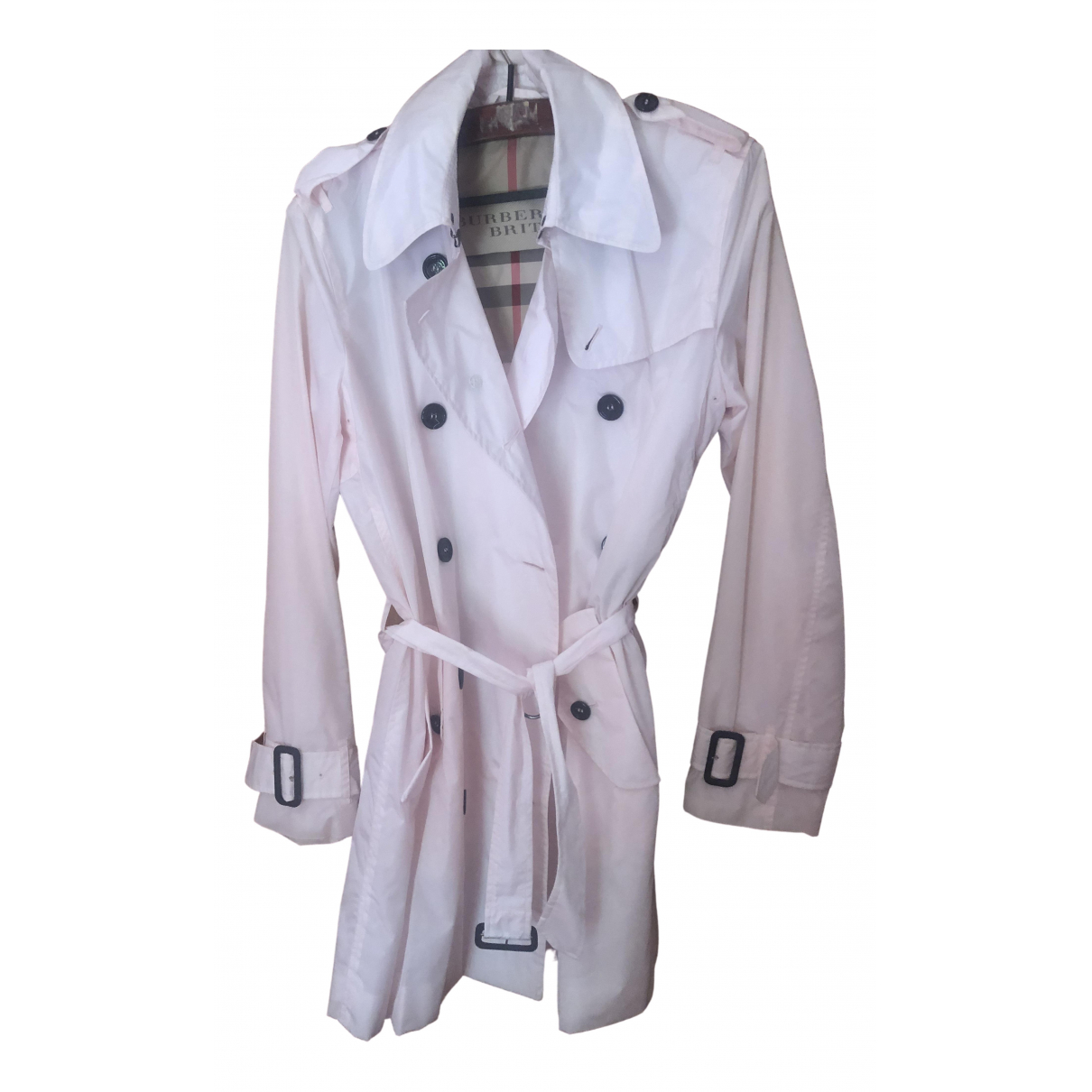 Burberry \N Trench in  Rosa Polyester
