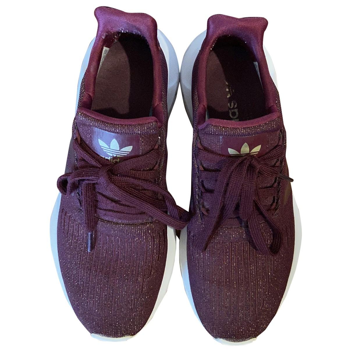 Adidas - Baskets   pour femme en caoutchouc - bordeaux