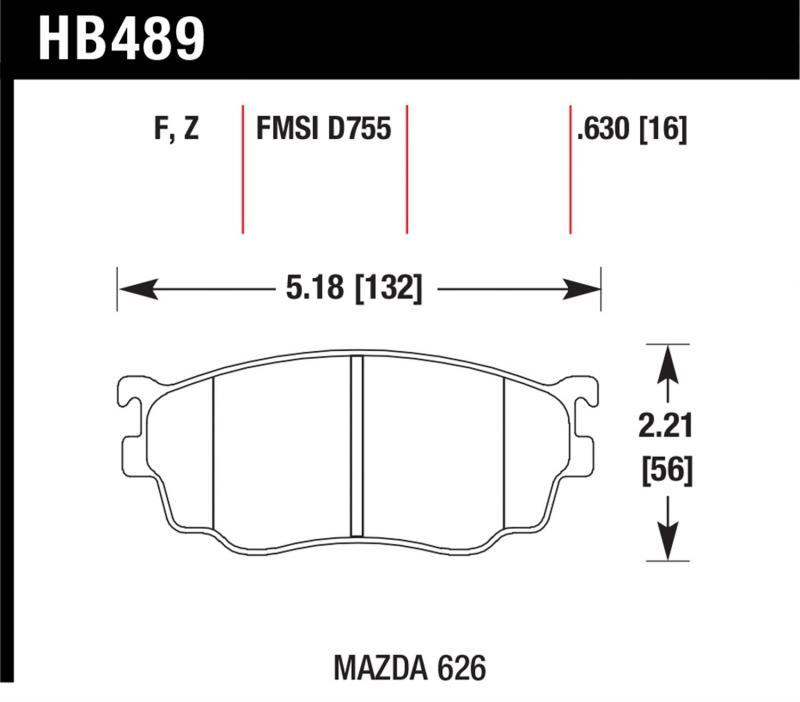 Hawk Performance HB489F.630 Disc Brake Pad Mazda Front