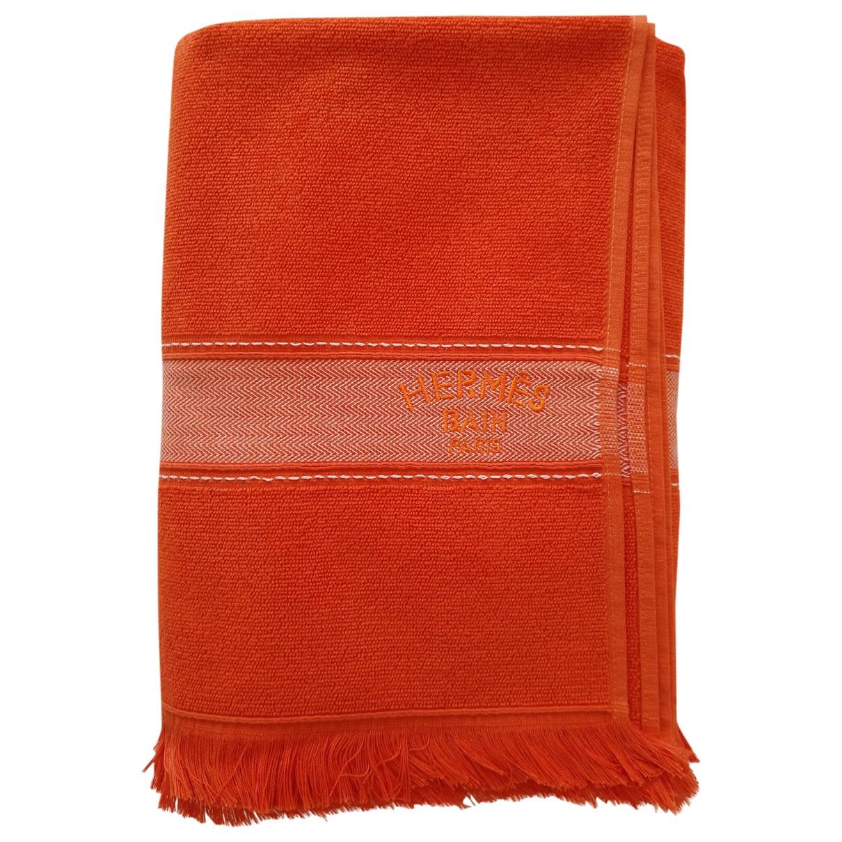 Hermès \N Orange Cotton Textiles for Life & Living 38 FR