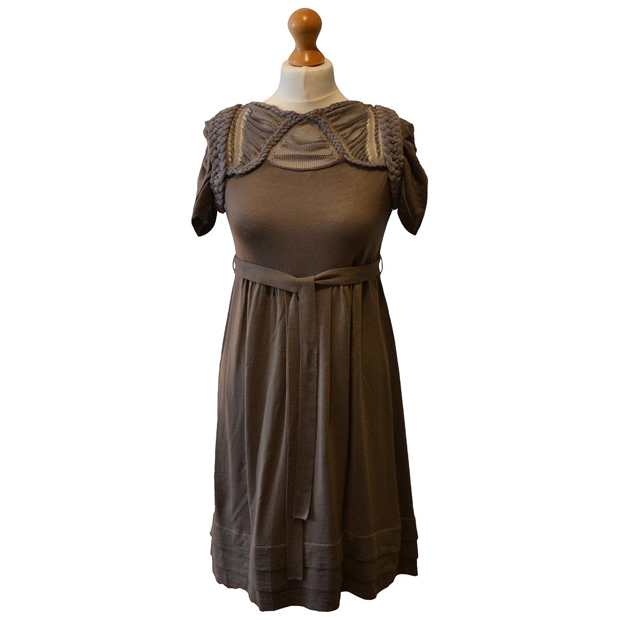 Hoss Intropia - Robe   pour femme en laine - beige