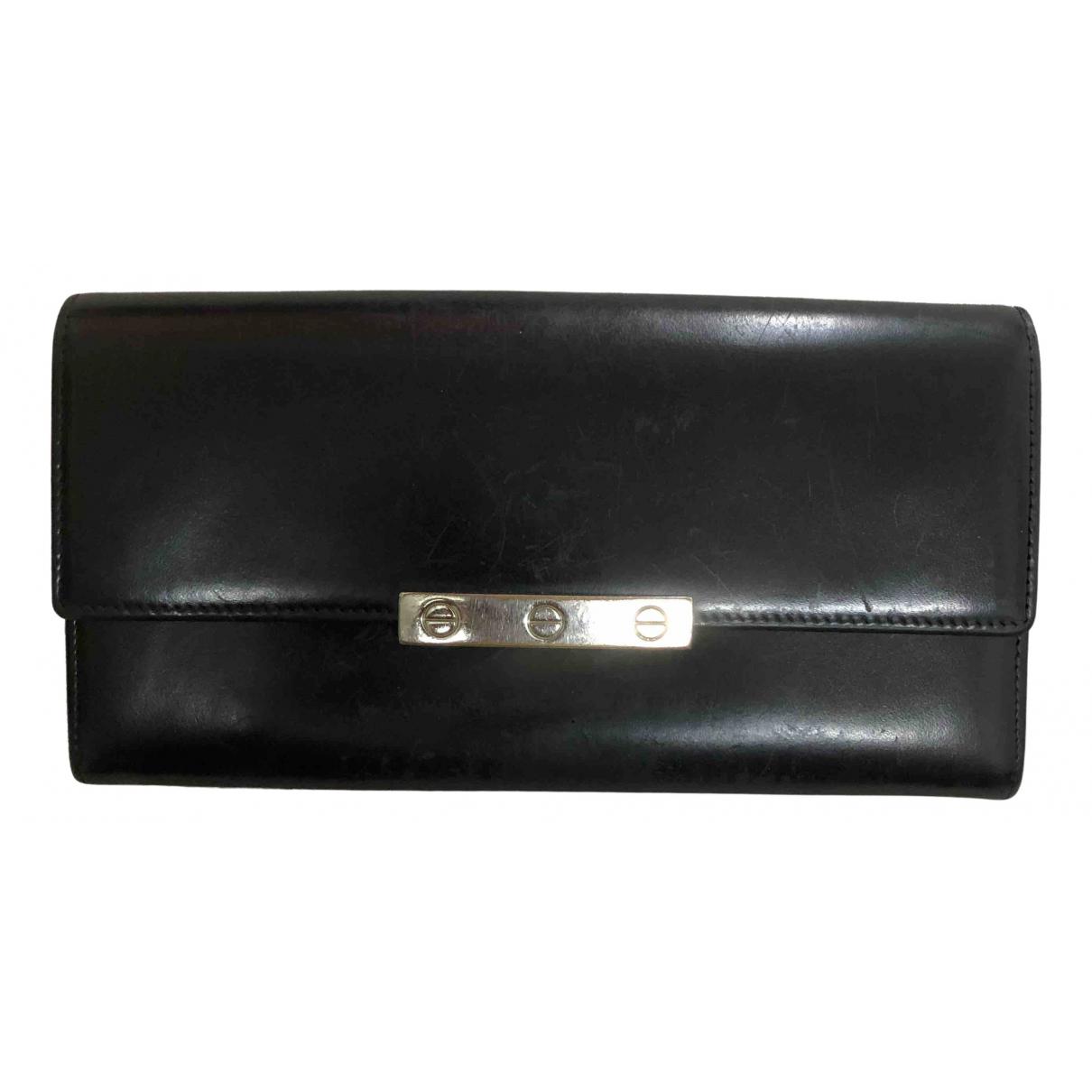 Cartier \N Kleinlederwaren in  Schwarz Leder