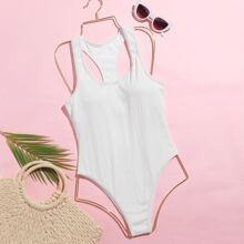 Scoop Neck One Piece Swimsuit