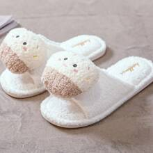 Cartoon Decor Fluffy Slippers