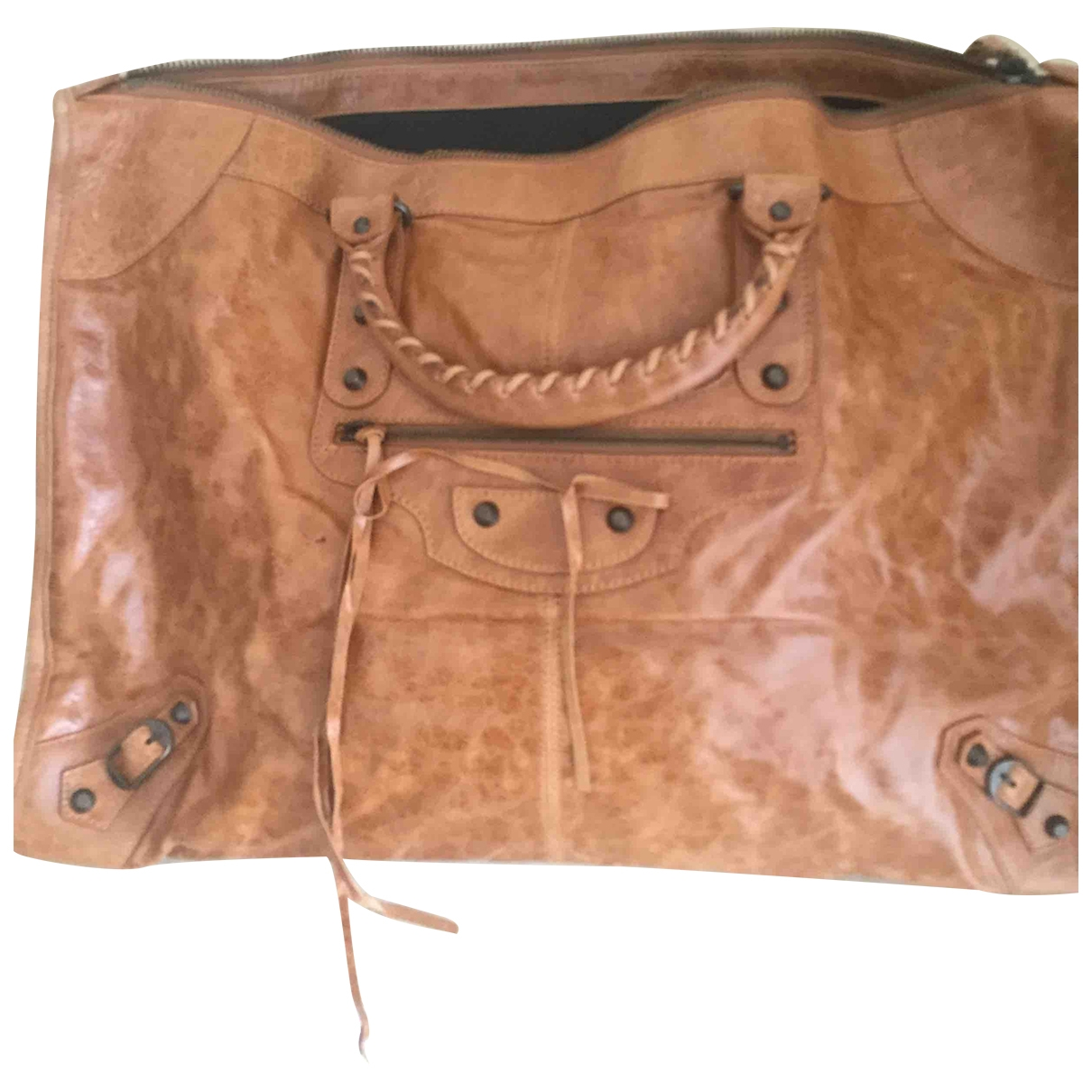 Balenciaga Work Camel Leather handbag for Women \N