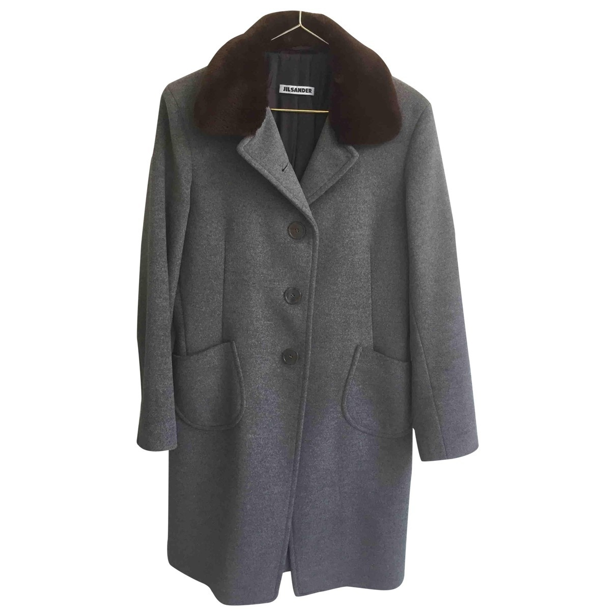 Jil Sander \N Grey Wool coat for Women 38 FR