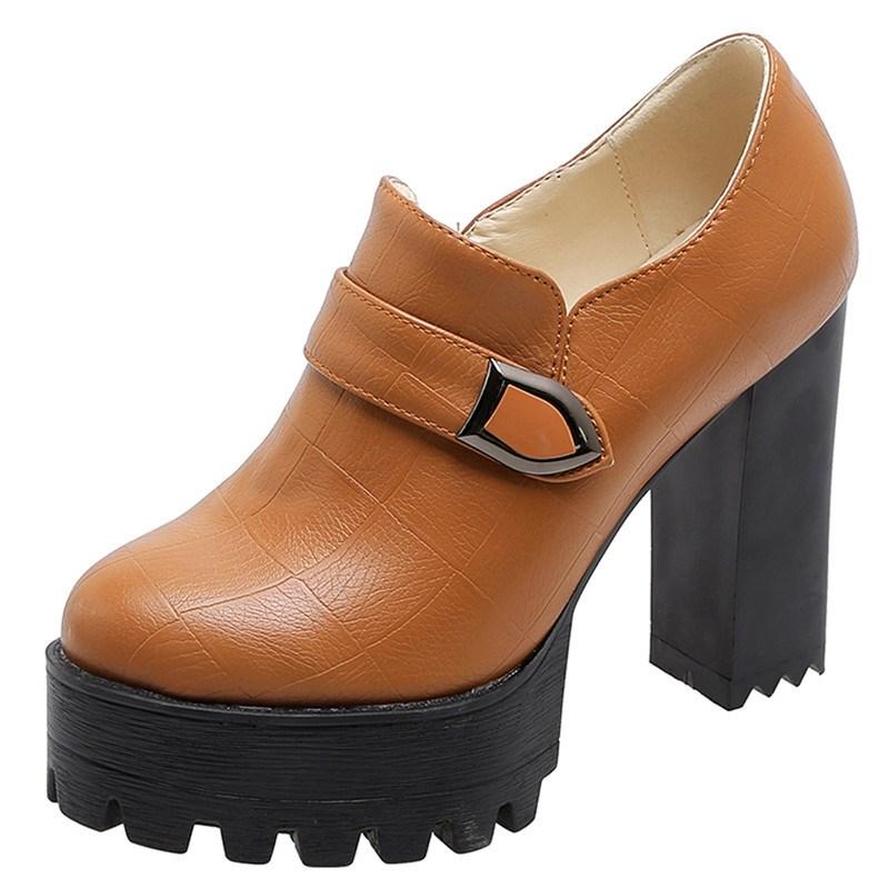Ericdress Zipper Chunky Heel Plain Ankle Boots