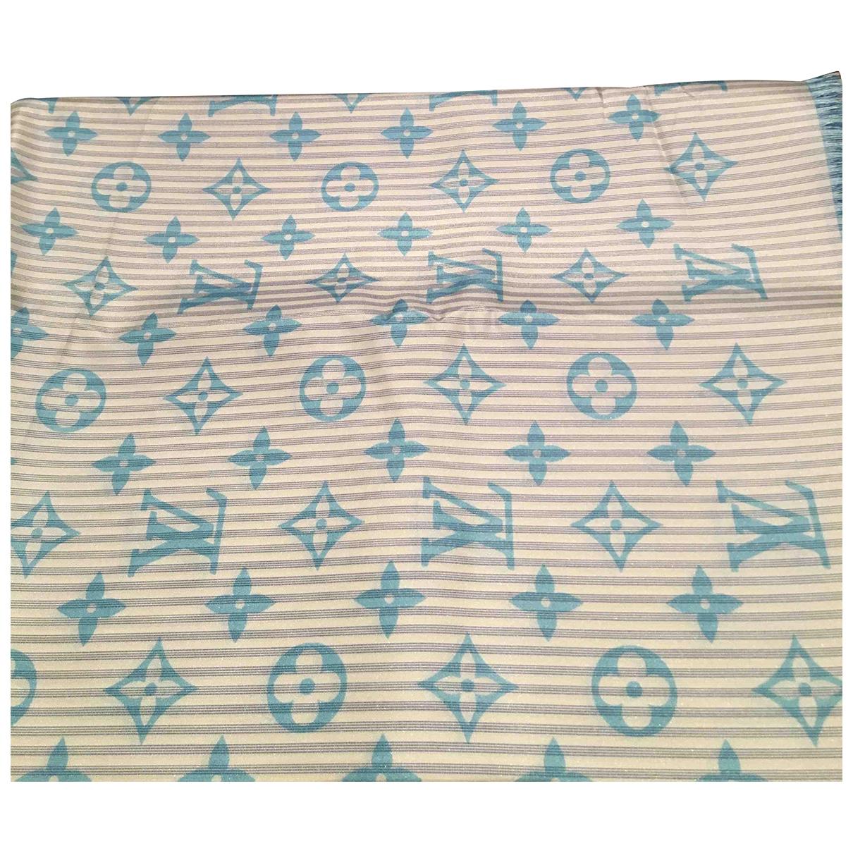 Louis Vuitton - Carre   pour femme en soie - bleu