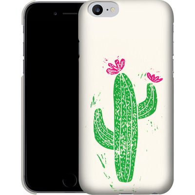 Apple iPhone 6s Plus Smartphone Huelle - Linocut Cacti von Bianca Green
