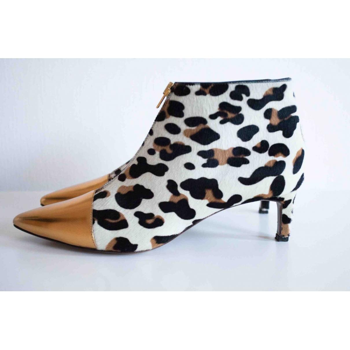 Marni - Boots   pour femme en veau facon poulain - multicolore