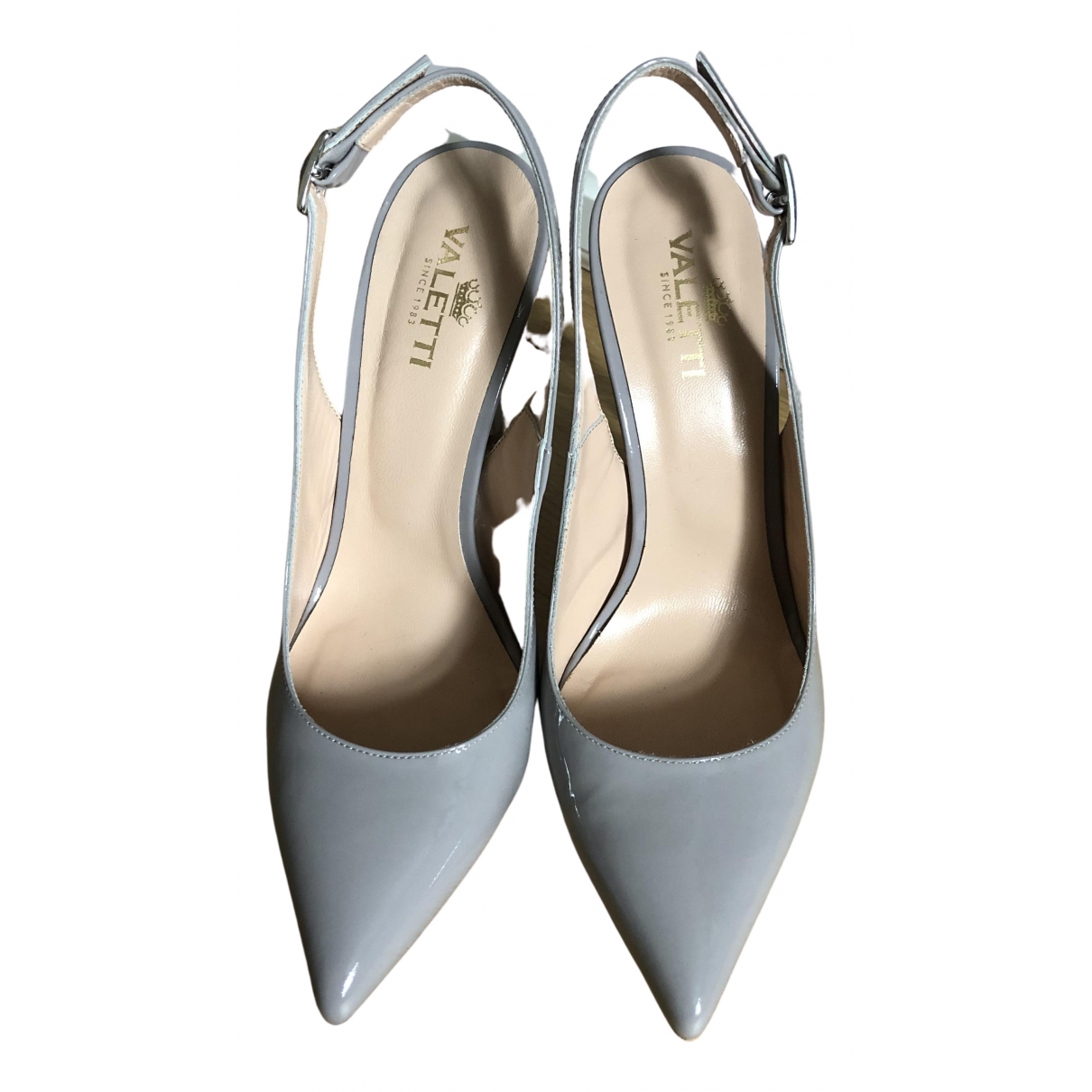 Non Signé / Unsigned \N Grey Patent leather Sandals for Women 36 EU
