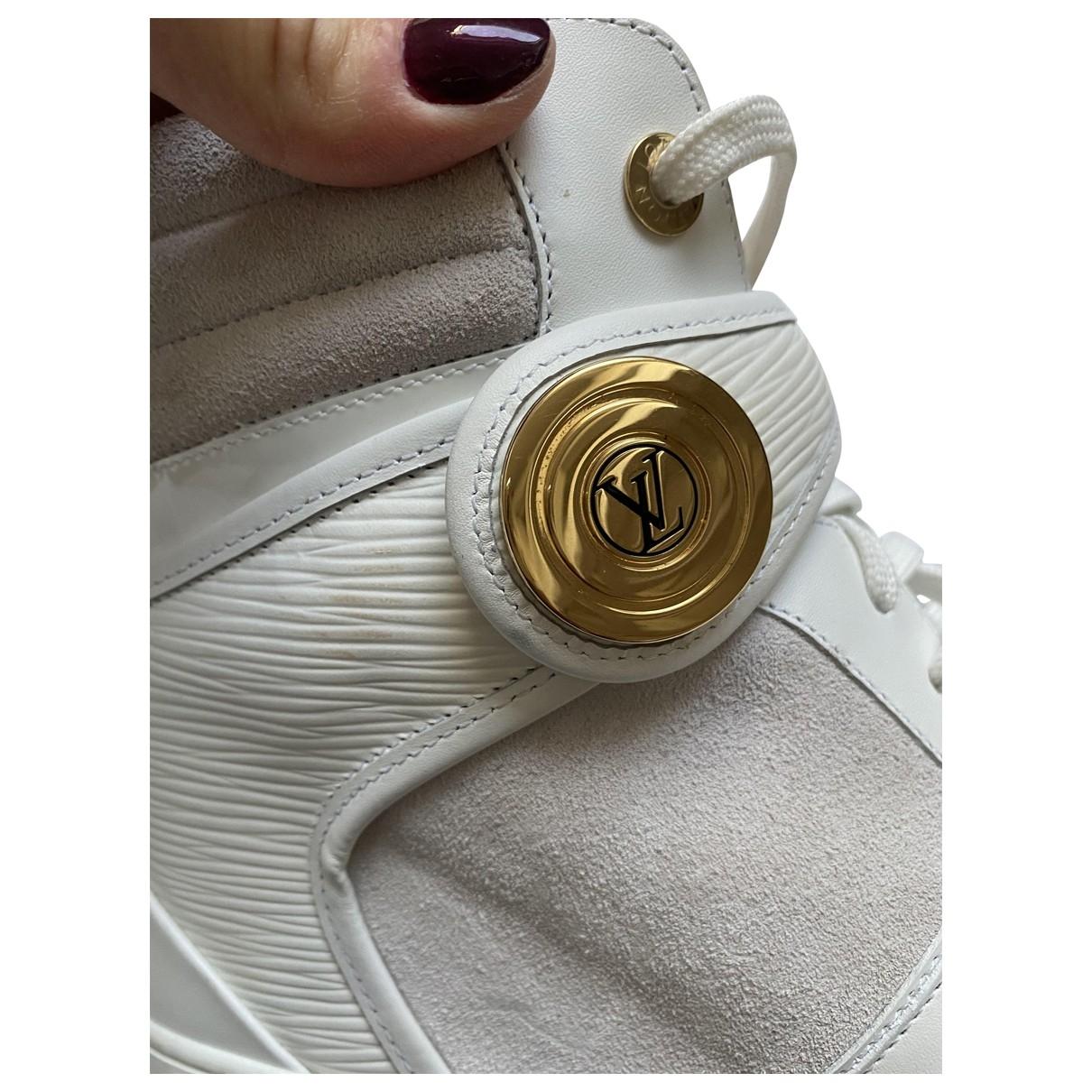 Louis Vuitton - Baskets   pour femme en toile - blanc