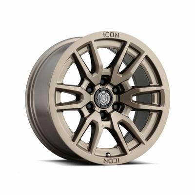 Icon Dynamics Vector 6 Series Wheel, 17x8.5 with 6x5.5 Bolt Pattern - Bronze - 2417858357BR