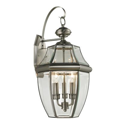 8603Ew/80 Ashford 3 Light Outdoor Wall Sconce In Antique