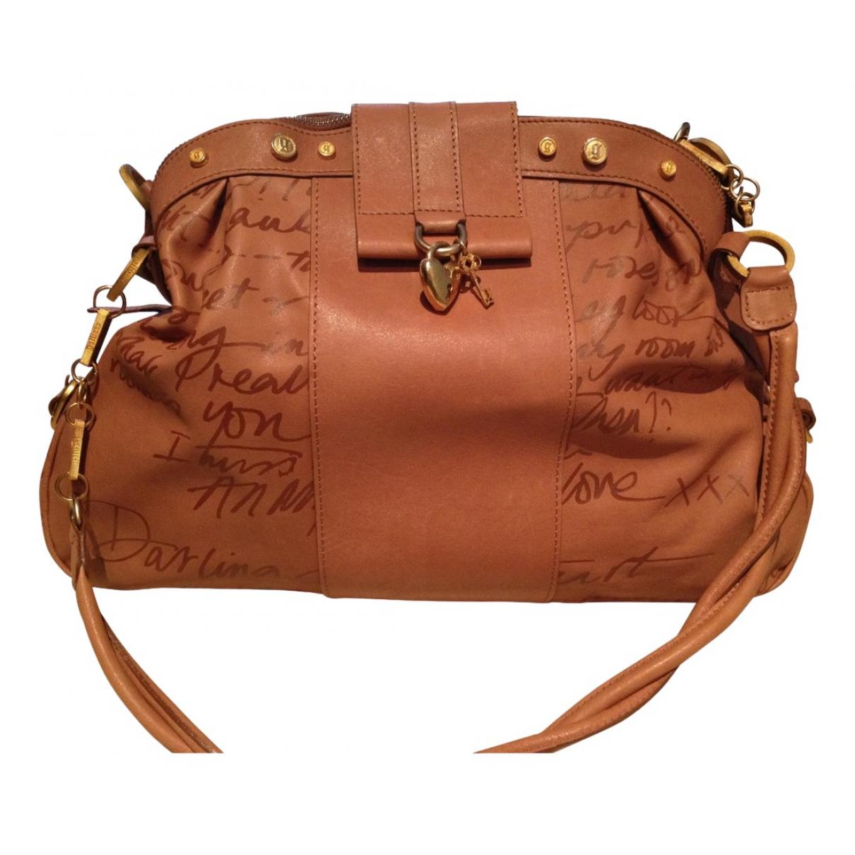 Galliano N Brown Leather handbag for Women N
