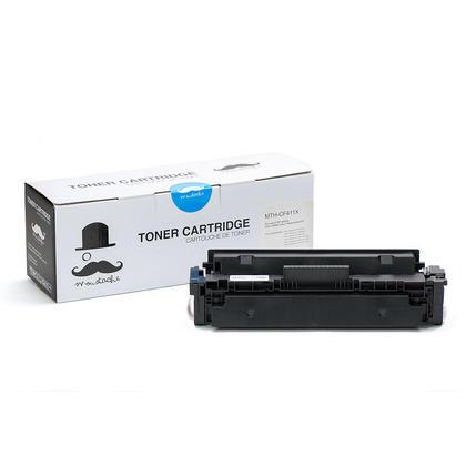 Compatible HP 410X CF411X Cyan Toner Cartridge High Yield - Moustache - 1/Pack
