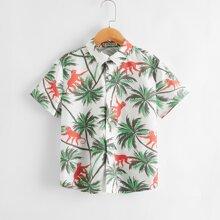 Hemd mit tropischem Muster