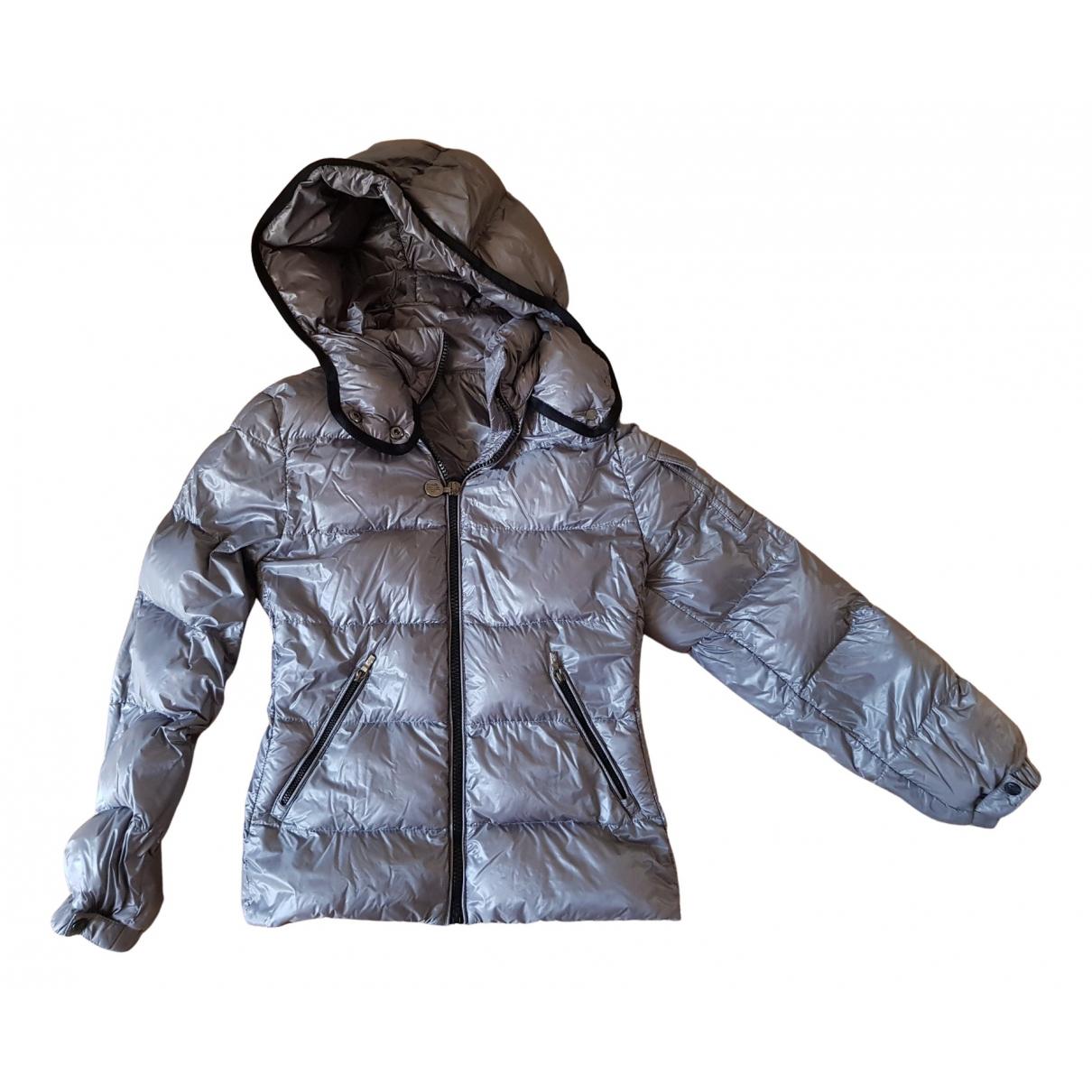Moncler Hood Jacke, Maentel in  Silber Polyester