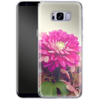 Samsung Galaxy S8 Plus Silikon Handyhuelle - Pink Dahlia 2 von Joy StClaire
