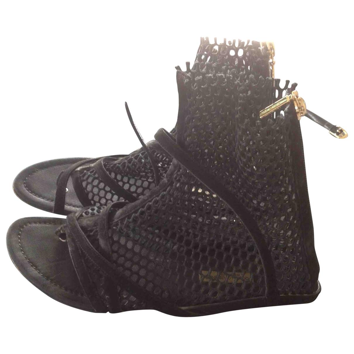 Dolce & Gabbana \N Black Cloth Sandals for Women 37 EU