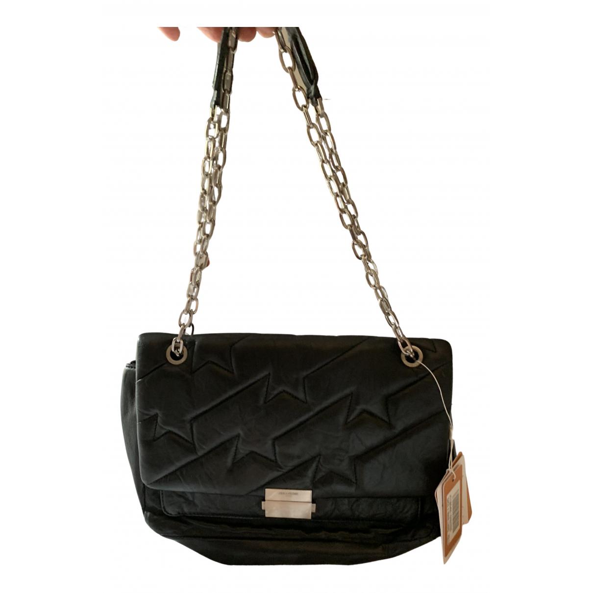 Zadig & Voltaire - Sac a main Ziggy XL  pour femme en cuir - noir