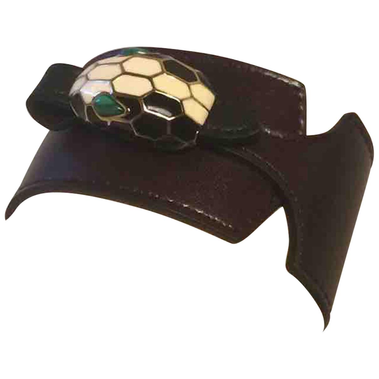 Bvlgari - Bracelet Serpenti pour femme en cuir - marron