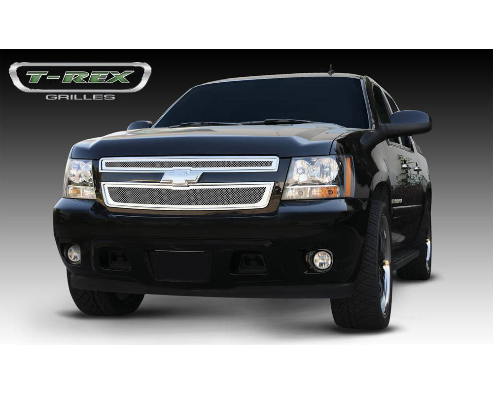 2007-2013 Avalanche, 07-14 Sub/Tahoe Upper Class Grille, Polished, 2 Pc, Overlay - PN #54051