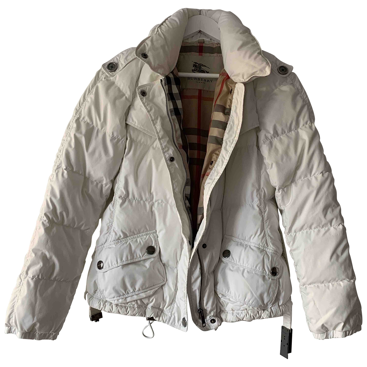 Burberry \N Maentel in  Weiss Polyester