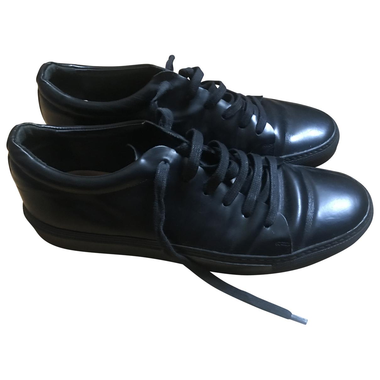 Acne Studios - Baskets   pour homme en cuir - noir
