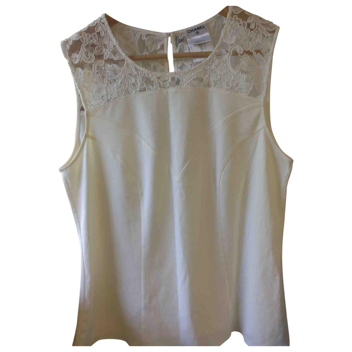 Chanel \N Ecru Cotton  top for Women 44 FR